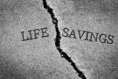 Starego Krakingowego chodniczka cementu życia Niebezpieczni Łamający Savings gubjący Obraz Stock