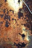 Starego metalu Ośniedziała tekstura Obrazy Royalty Free