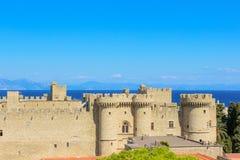 starego miasta Pałac Uroczyści mistrzowie - Rhodes wyspa, Grecja zdjęcia stock