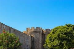 starego miasta Pałac Uroczyści mistrzowie - Rhodes wyspa, Grecja fotografia royalty free
