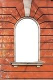 Starego okno pusta rama na ścianie Obraz Royalty Free