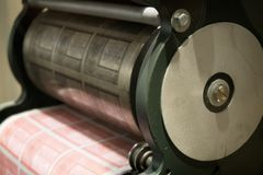 Starego pieniądze drukowa maszyna zdjęcia stock
