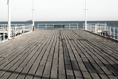 Starego portu mola widok Limassol fotografia royalty free