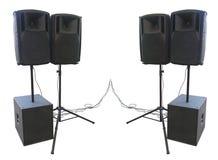 Starego potężnego scena koncerta audio mówcy odizolowywający na bielu Zdjęcia Stock