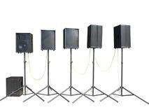 Starego potężnego scena koncerta przemysłowi audio mówcy odizolowywali o Zdjęcia Stock