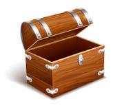 Starego pustego rocznika drewniany bagażnik Zdjęcie Stock