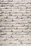 Starego rocznika ściana z cegieł tekstury biały tło Zdjęcia Royalty Free