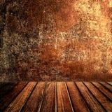 Starego rocznika brązu panelu drewniany tabletop z Abstrakcjonistycznym Ciemnym brązem obrazy stock
