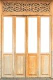 Starego rocznika drewniany drzwi na białym tle 1 Zdjęcie Stock