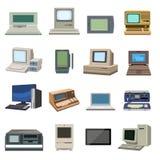 Starego rocznika komputeru ustalony wektor Obraz Stock