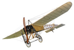 Starego rocznika mono samolot z drewnianym śmigłem zdjęcie stock