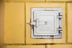 Starego rocznika pa nieociosany drzwi Fotografia Royalty Free