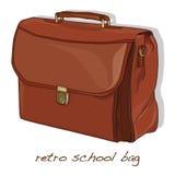 Starego rocznika szkolna torba ilustracja wektor