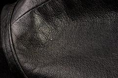 Starego rocznika tekstury prawdziwy mi?kki czarny rzemienny t?o, odg?rna warstwa z pores i narysy, makro-, w g?r? obrazy royalty free