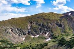 Starego spadku rzeczna droga - skalistej góry park narodowy Colorado Zdjęcie Royalty Free