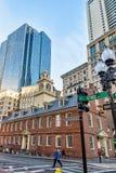 Starego stanu Domowy i Pieniężny okręg przy W centrum Boston MA Zdjęcie Stock