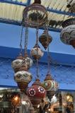 Starego stylu handmade lampa, ośniedziała orientalna lampa fotografia royalty free