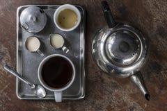 Starego stylu kolekci Azjatycki kawowy set Obrazy Royalty Free