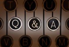 Starego stylu pytanie i odpowiedź fotografia royalty free