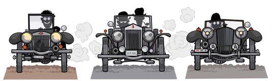 Starego stylu samochodów antepedium widok. Zdjęcia Royalty Free