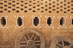 Starego stylu wioski domu ściana w India zdjęcia stock
