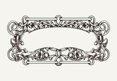 Starego sztandaru Wysoki Ozdobny tło Obrazy Royalty Free