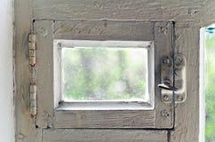 Starego wiejskiego ventlight nadokienna rama. abstrakcjonistyczni tła Zdjęcie Stock