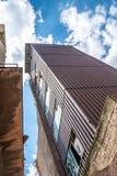 Starego zaniechanego brudnego comunism fabryczny budynek podczas rozbiórki Fotografia Royalty Free