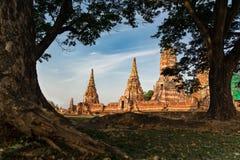 Starej świątyni tło Zdjęcia Stock