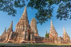 starej świątyni wat Chaiwatthanaram Ayuthaya prowincja Zdjęcia Stock
