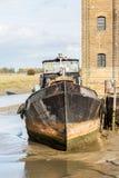 Starej Żeglowania barki domowa łódź przy Faversham Kent Obraz Stock
