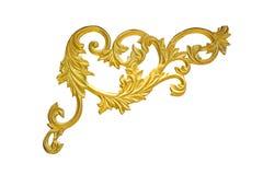 Starej antykwarskiej złoto ramy ścian Sztukateryjnej greckiej kultury rocznika stylu wzoru linii rzymski projekt dla granicy odiz Obrazy Royalty Free