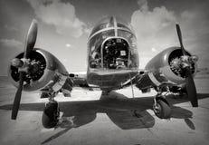 Starej bombowiec frontowy widok Obraz Stock
