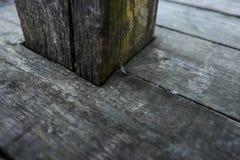 Starej ciemnej drewnianej tekstury naturalne deseniowe drewniane deski Zdjęcie Stock