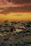 Starej farmy Zaniechany budynek Zdjęcie Royalty Free