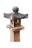 Starej kamiennej poczta lampowy japoński styl fotografia stock