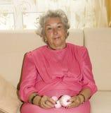 Starej kobiety dzianie Zdjęcie Royalty Free
