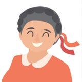 Starej kobiety ikony wektor Kobiety ikony ilustracja Twarz starej kobiety ikona royalty ilustracja