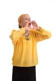 Starej kobiety krzyczeć Fotografia Royalty Free