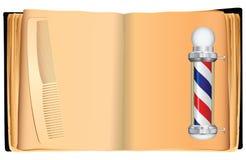Starej książki fryzjer męski royalty ilustracja