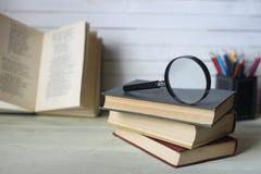 Starej książki obiektyw Zdjęcie Stock