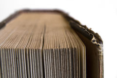 Starej książki zakończenie Obrazy Stock