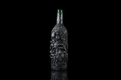Starej mistyczki Halloweenowej fantazi magiczna butelka obraz royalty free