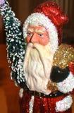 Starej mody Święty Mikołaj Luksusowy złoto i Crsystal bożych narodzeń figurka fotografia stock