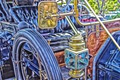 Starej mody samochodowy artsy styl obrazy royalty free