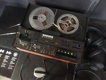 Starej odtwarzacz muzyczny nostalgii muzyczna magnesowa kaseta Obrazy Royalty Free