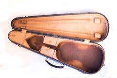 Starej skrzynki skrzypce ja obraz stock