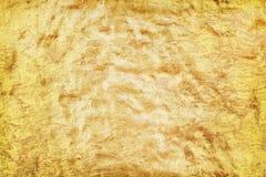 Starej tekstury delikatna złocista farba na betonowej ścianie w bezszwowych szorstkich wzorach dla tła zdjęcia royalty free