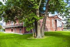 Starej USA Nowy i poprzedni fortu St Charles w dzielnicie francuskiej wewnątrz fotografia royalty free