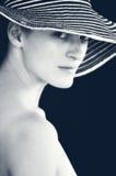 Starende blik in sepia Royalty-vrije Stock Afbeelding